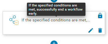 EndConditionally Action