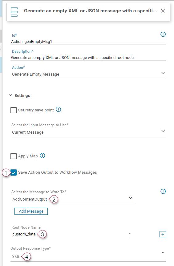 GenerateEmptyMessage Action Details 1